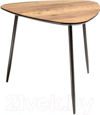 Журнальный столик Atreve Klara 3 (орех/металл черный)
