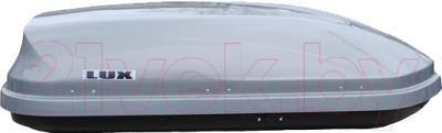 Автобокс Lux Flagman 370L 844116 (серый металлик)