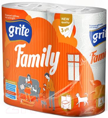 Туалетная бумага Grite Family (трехслойная неокрашенная, 4рул)