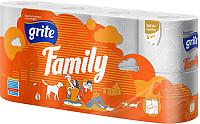 Туалетная бумага Grite Family (трехслойная неокрашенная, 8рул) -
