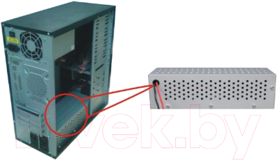 Корпус для компьютера Gembird CCC-P4-UPS1