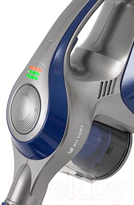 Вертикальный портативный пылесос Kitfort KT-515-2 (серо-синий)