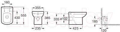 Унитаз приставной Roca Dama Senso Compacto A347517000
