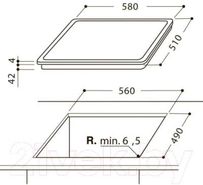 Электрическая варочная панель Hotpoint-Ariston HR 632 B