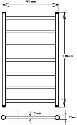 Полотенцесушитель электрический ZorG ZR 014 (ZR 1100-7)