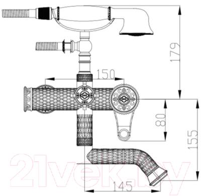 Смеситель ZorG A 400W-BR
