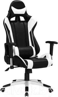 Кресло геймерское Everprof Lotus S6 PU (черный/белый)