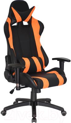 Кресло геймерское Everprof Lotus S2 PU (черный/оранжевый)