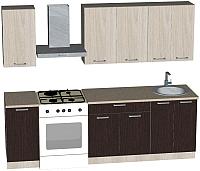 Готовая кухня Мебель-Класс Берта 1.8 (венге/дуб шамони) -