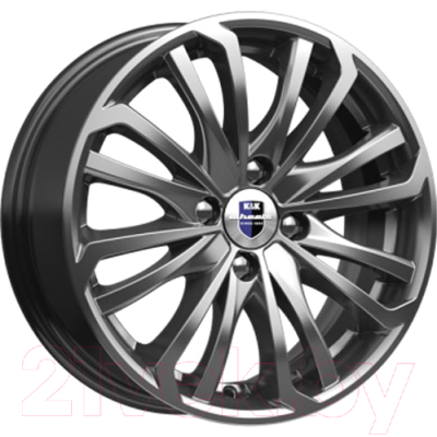 "Литой диск K&K KC622-dpl Rim 15x6"" 4x108мм DIA 65.1мм ET 18мм Dark Platinum"