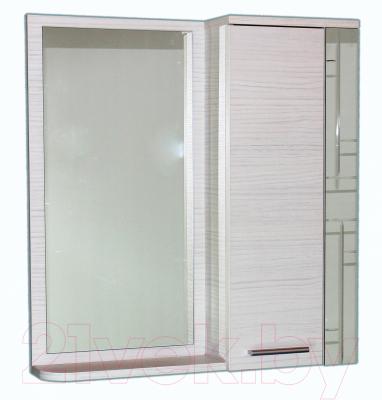 Шкаф с зеркалом для ванной СанитаМебель Прованс 101.700 R (гасиенда)