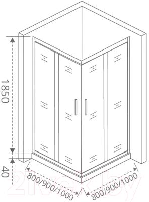 Душевой уголок Good Door Latte CR-90-C-WE