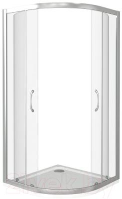 Душевой уголок Good Door Latte R-100-C-WE