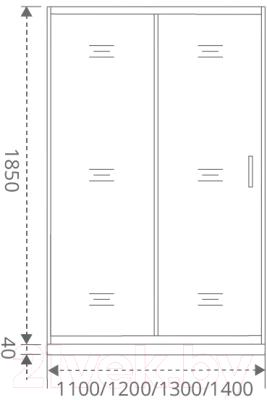 Душевое ограждение Good Door Latte WTW-120-C-WE