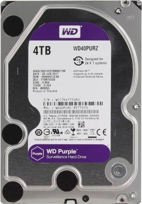 Жесткий диск Western Digital 4Tb Purple (WD40PURZ)