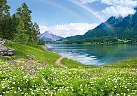 Фотообои листовые Твоя планета Люкс Радужное озеро (291x204) -