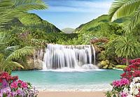 Фотообои листовые Твоя планета Люкс Райский уголок (291x204) -
