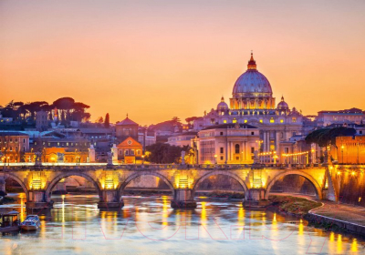 Фотообои Твоя планета Люкс Рассвет над Римом (291x204)