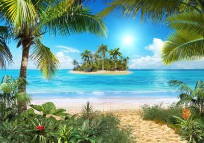 Фотообои Твоя планета Люкс Тропический пляж (291x204)
