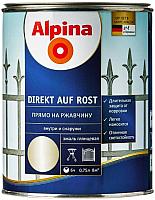 Эмаль Alpina Direkt auf Rost RAL1036 (750мл, золото) -