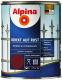 Эмаль Alpina Direkt auf Rost RAL3005 (750мл, бордо) -