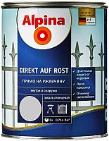 Эмаль Alpina Direkt auf Rost RAL7040 (750мл, серый) -