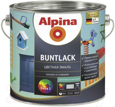Эмаль Alpina Buntlack. База 1 (2.38л, шелковисто-матовый)