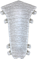 Уголок для плинтуса Ideal Комфорт 253 Ясень серый (внутренний) -