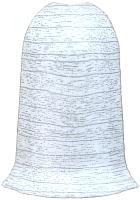 Уголок для плинтуса Ideal Комфорт 253 Ясень серый (наружный) -