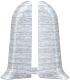 Заглушка для плинтуса Ideal Комфорт 253 Ясень серый (2шт) -