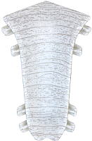 Уголок для плинтуса Ideal Комфорт 252 Ясень белый (внутренний) -