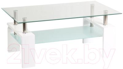 Журнальный столик Signal Lisa Basic ll (белый)