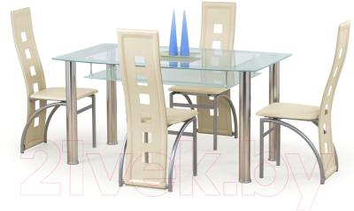 Обеденный стол Halmar Cristal (прозрачный/молочный)