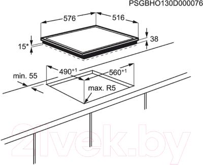 Электрическая варочная панель Electrolux CPE6420KX