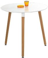 Обеденный стол Halmar Socrates Okragly (белый/бук) -