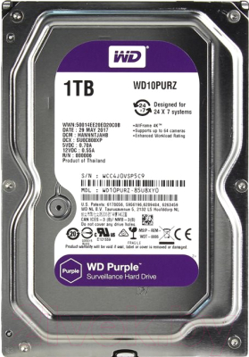 Жесткий диск Western Digital WD10PURZ Purple