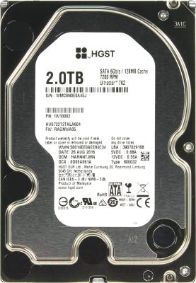 Жесткий диск HGST Ultrastar 7K2 2TB (HUS722T2TALA604)