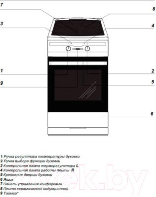 Плита электрическая Hansa FCIW53800