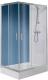 Душевое ограждение Sanplast KN/TX5b-80x100-S sbW0 (с Glass Protect) -