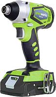 Аккумуляторный шуруповерт Greenworks G24ID (3801307) -