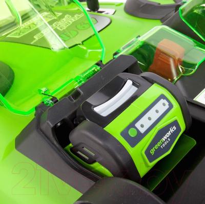 Газонокосилка электрическая Greenworks Twin Force G40LM49DB (2500207)