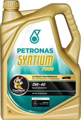 Моторное масло Petronas Syntium 7000 0W40 / 18385019 (5л)
