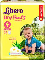 Подгузники-трусики Libero Dry Pants 4 Maxi (54шт) -