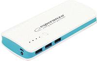 Портативное зарядное устройство Esperanza Radium ESP-054448 / EMP106WB (белый/синий) -