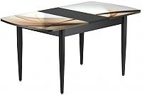 Обеденный стол Васанти Плюс БРФ 110/142x70/1Р/ОЧ (черный/111) -