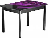 Обеденный стол Васанти Плюс БРФ 100/132x60Р/ОЧ (черный/99) -