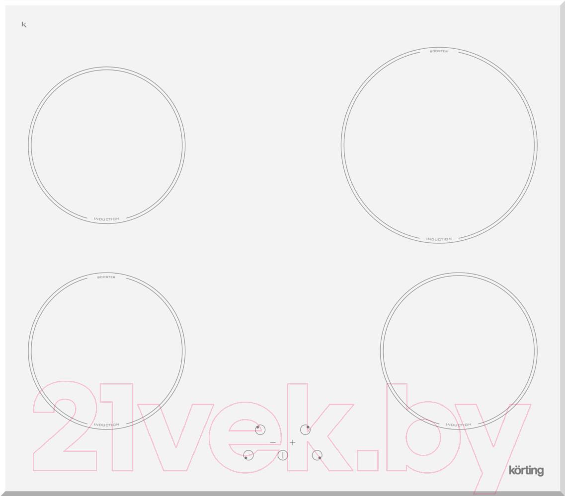 Купить Индукционная варочная панель Korting, HI64021BW, Италия