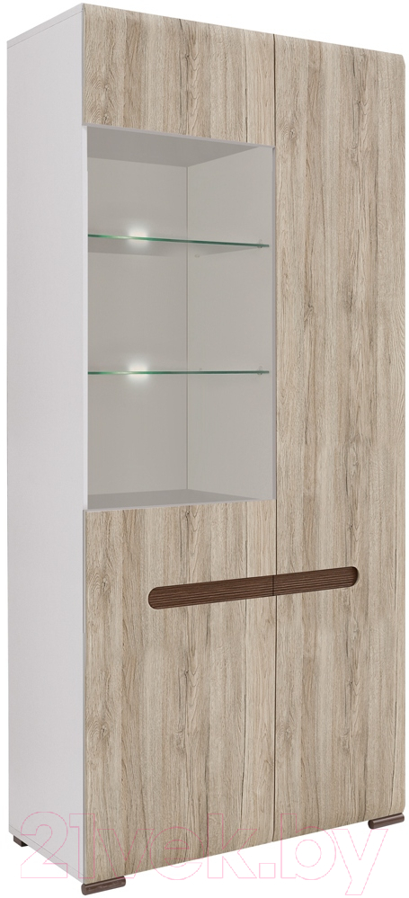 Купить Шкаф Black Red White, Azteca S205-REG1W1D/21/9 (белый/дуб санремо), Беларусь