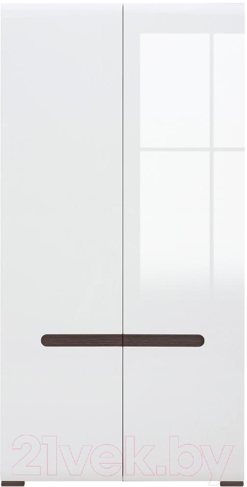 Купить Шкаф Black Red White, Azteca S205-SZF2D/21/11 (белый/белый блеск), Беларусь