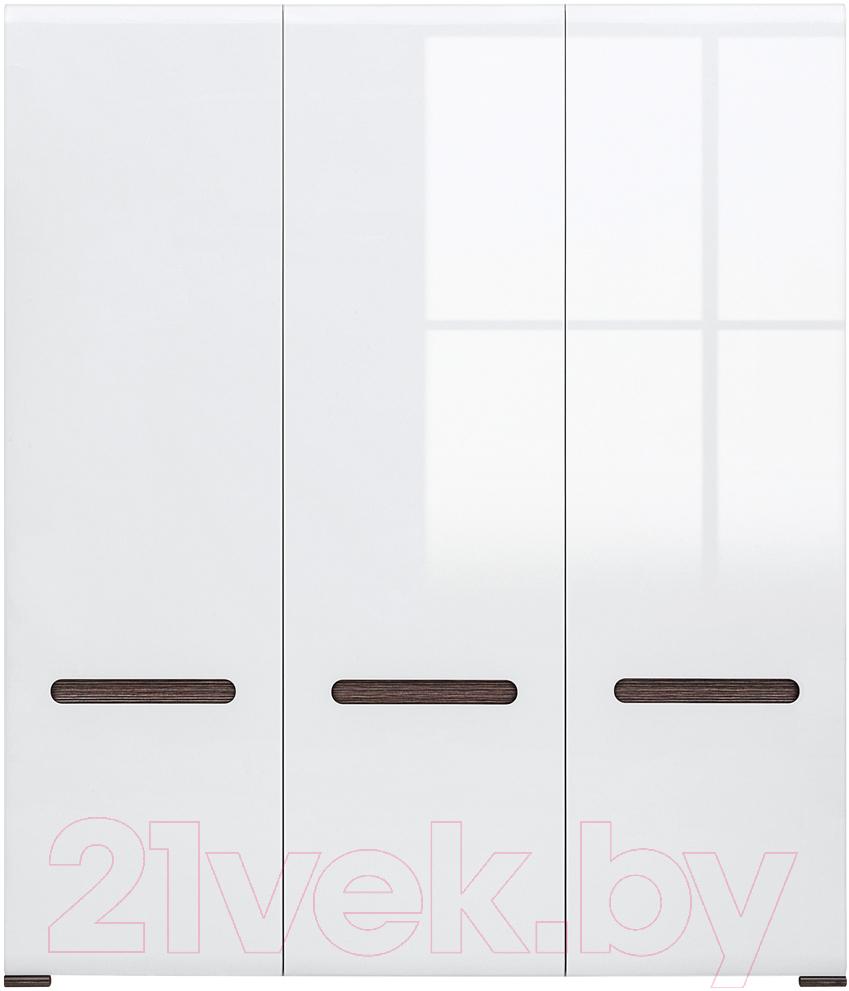 Купить Шкаф Black Red White, Azteca S205-SZF3D/21/18 (белый/белый блеск), Беларусь